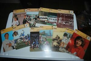 1977-79 Sportscaster cards, lot of 14, RUGBY
