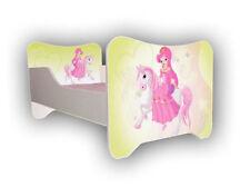 Letto BAMBINI PONY, bebè-Junior letto per ragazze bambini con materasso (140x70cm)