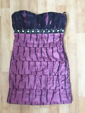 Nazz Collection Size 12 Purple + Black Cocktail Dress