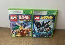 LEGO XBOX 360 Games Bundle- LEGO Batman & LEGO Marvel Super Heroes- Complete