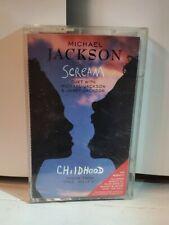 Michael Jackson & Janet Jackson RARE Cassette Maxi Single - Scream 8 TRACKS