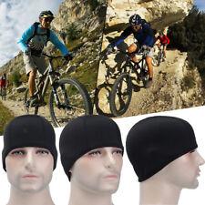 Bike Bicycle Fleece Lined Tactical Beanie Hat Winter Cycling Cap Helmet Liner UK