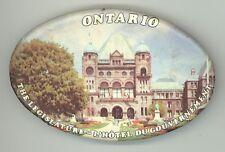 1970s ONTARIO CANADA Canadian LEGISLATURE Oval PIN Button PINBACK Badge OTTAWA