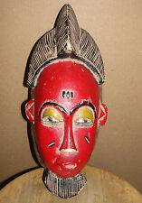 Fine Old  Baule Yaure Beautiful Mask African Baule Guro Beard Masque Africa Mblo