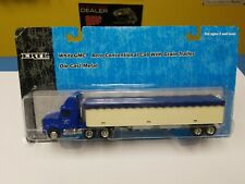 "ERTL WHITEGMC AERO CONVENTIONAL CAB  WITH GRAIN TRAILER  ""NEW"""