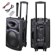 "12"" Professional Power Active 1200W DJ PA Speaker Bluetooth USB Remote Portable"