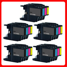 Conjunto de tinta de 20 LC1240 para Brother MFC DCP J6510DW J5910DW J6710DW J525W J725DW