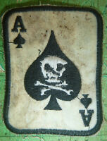 DEATH CARD - Patch - 101st Airborne - BLACK - ACE of SPADES - Vietnam War - 0058