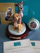 WDCC Lady and the Tramp - Opposites Attract with ornament & event card - NLE NIB