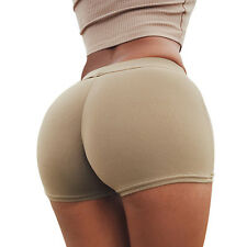 New Women Slim Fit Stretch Hot Pants Sports Gym Seamless Mini Dance Party Shorts