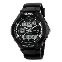 SKMEI S-SHOCK Men's Quartz Watch Digital Analog LED Sport Military Waterproof US
