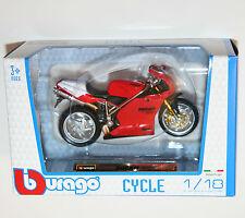 Burago-Ducati 998r-Motocicleta Modelo Escala 1:18