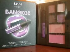NYX Lip Eye Face Palette in Bangkok Lip Cream 4 Shadows Highlighter Blush NIB