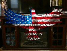 Large Metal American Flag Wall Art Sculpture Patriotic USA porch patio deck art
