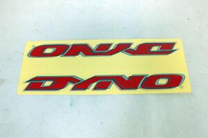 """Vtg NOS Dyno BMX Freestyle Red Frame Sticker Original Detour Era Lrg 10"""" x 1"""""""