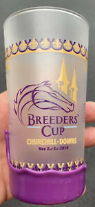2018 Breeders Cup Glasses w/Purple Makers Mark Wax Set Of 4