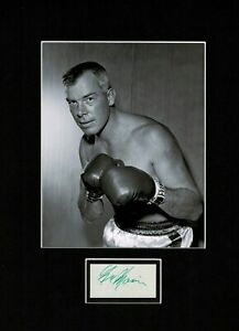 LEE MARVIN THE DIRTY DOZEN CAT BALLOU AUTHENTIC SIGNED AUTOGRAPH  DISPLAY UACC