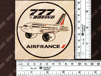 ROUND AIR FRANCE PUDGY STYLE BOEING B777 DECAL / STICKER 3.5 x 3.5 in / 9 x 9 cm