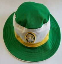 Boston Celtics NBA Hardwood Classics New Era Bucket Hat Size L / XL Green White