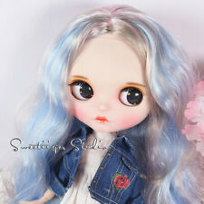 "Takara 12"" Neo Blythe original OOAK customize doll sliver blue jointed body"