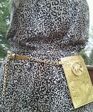 Michael Kors genuine leather gold tone belt, purse S, M ( price for one)