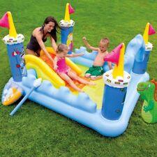 INTEX 57138 piscina gonfiabile per bambini castello con dinosauro e scivolo