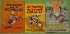 New listing Lot 3 The Mouse And The Motorcycle~Runaway Ralph~Ralph S. Mouse~Beverly Cleary