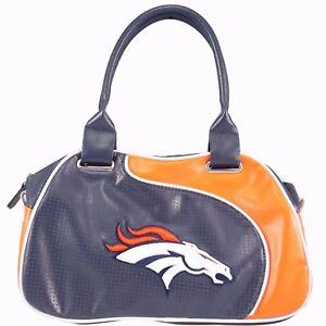 NFL Denver Broncos Official License Perfect Bowler Womens Purse Handbag
