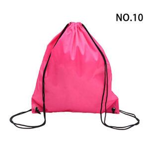Unisex Waterproof Strong Nylon Cord Handles Drawstring Softback Bag Sport Gym