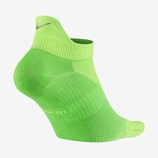 NIKE ELITE Lightweight No-Show Tab Running Socks SX4952-380 (6-7.5) Volt Green