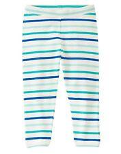 NEW Gymboree Baby Toddler Girls 2T Aqua Striped Leggings