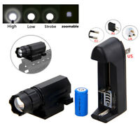 Zoomable Pistol   3000LM XPG-Q5 LED Flashlight   3Mode Torch 16340 Battery