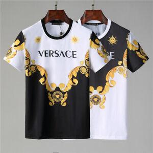 Brand 2021 Summer New Versace Men's Women's Cotton Top Short Sleeve T-Shirts