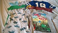 bundle boy 4-5 years short sleeved tops t shirts Next dinosaur JCB digger green