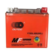 GEL YTX5L-BS GTX5L-BS ATV Battery for Honda TRX90X Skyhawk 50 90 Kawasaki KFX90