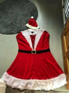 Mrs Santa Claus Christmas Fancy Dress Xmas Ladies Women's SIZE XL ATMOSPHERE