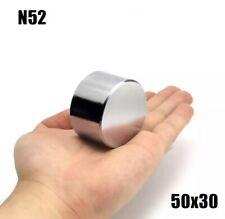 MAGNETE N52 NEODIMIO CALAMITA POTENTE 250KG 50X50x25 BLOCK STRONG 100 200 500 CO
