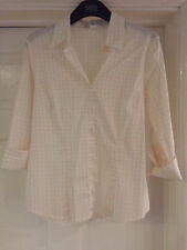 Checked 3/4 Sleeve Blouses Fitted Tops & Shirts for Women