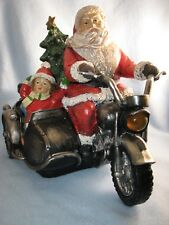 LED Lighted Motorcycle Santa with Music Holiday Christmas Decor