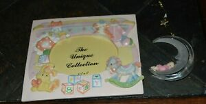 Baby Girl Infant 3D Picture Frame ROCKING HORSE Toys CLOTHES + MOON Ornament