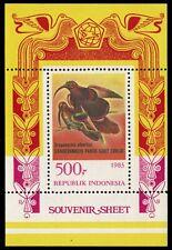 "INDONESIA 1213a - Black-billed Sicklebill ""Drepanornis albertisi"" S/S (pb17530)"
