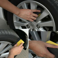 2pcs U-Shape Tire Wax Polishing Cleaning Sponge Rub ARC Tyre Brush Car Supplies