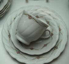 Kaffeeservice Winterling Röslau Porzellan weiß Rosengirlanden 18Tlg Bogenrand