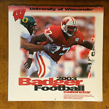 Badger Football 2003 calendar University of Wisconsin SEALED