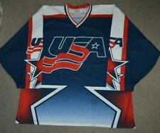 Team USA Game Worn Used Inline Roller Hockey Jersey ProJoy XL
