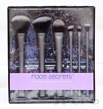 Face Secrets 6 Piece Cosmetic Brush Set Powder/Blush/Foundation/Crease/Concealer
