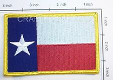 Texas State Flag Embroidered Patch Sew Iron On Biker Vest Applique Emblem New