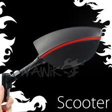 VAWiK Mirror Redline black + red stripe emark approved for custom scooter