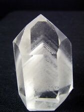 Clear Polished Quartz Crystal Point with Multi-layered Phantom Inclusions, Rare!