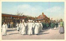1920s China Funeral Procession Peking Postcard 9326
